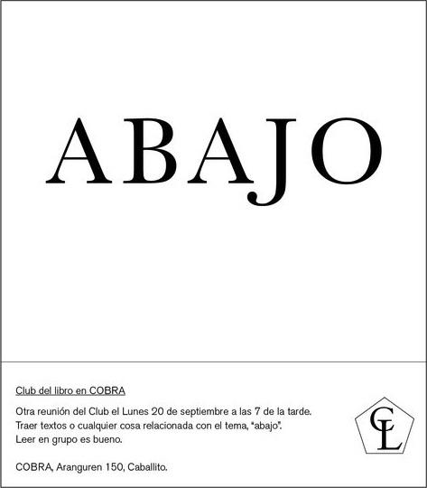 Flyer Club del Libro Cobra. Imagen.