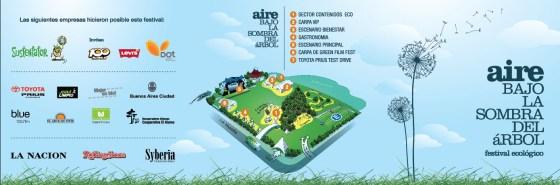 Tríptico del Festival Aire - Lado A. Imagen.