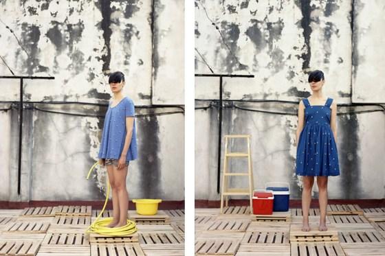 Inspiración moda verano 2011 - Remera y vestido barquitos by Pesqueira. Foto.