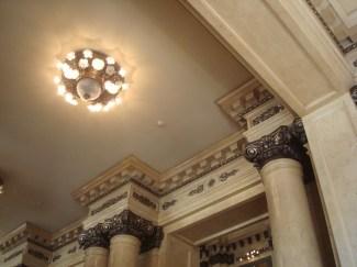 Detalle del techo de la entrada principal del Teatro Colón