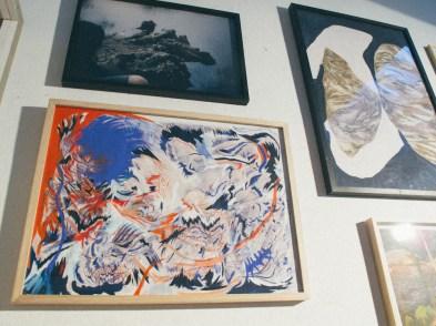 Pintura de Maricel Nowacki y otros en Big Sur. Foto