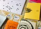 Calendarios y libros de Paolina Ilustraciones en la presentación del Anuario de Ilustradores 2012. Foto
