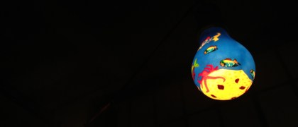 Bombitas de luz playeras. Foto