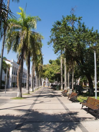 Plaza 24 de septiembre en Santa Cruz de la Sierra, Bolivia. Foto