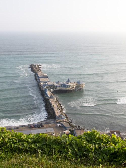 Restaurante La rosa náutica en el malecón de Lima. Foto