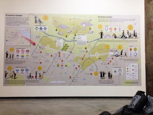 Mapa colectivo de José Leon Suárez en Fundación Proa - Acciones urgentes. Foto