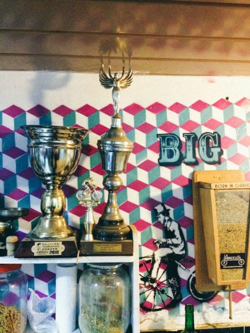 Detalle del taller Born in Garage en Colegiales. Foto