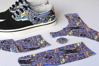 Colección 2014/2015 de las zapatillas ARDA y ropa interior en las mismas tramas. Foto