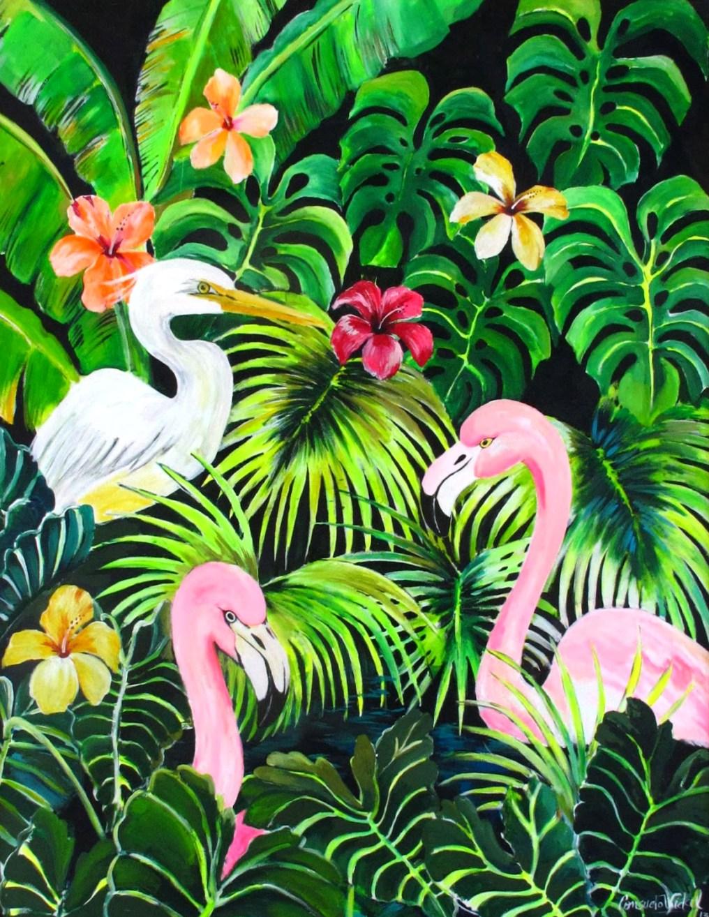 Obras de la feria de arte y plantas Flora: pintura de Consuelo Vidal. Foto