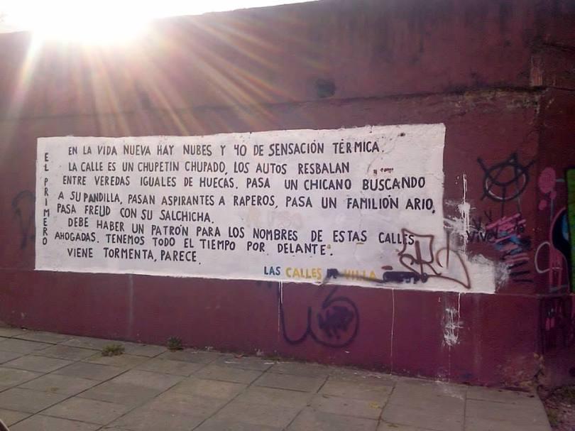 Reflexiones filosóficas urbanas - Referencia fotográfica del periódico Amo Villa Crespo. Foto