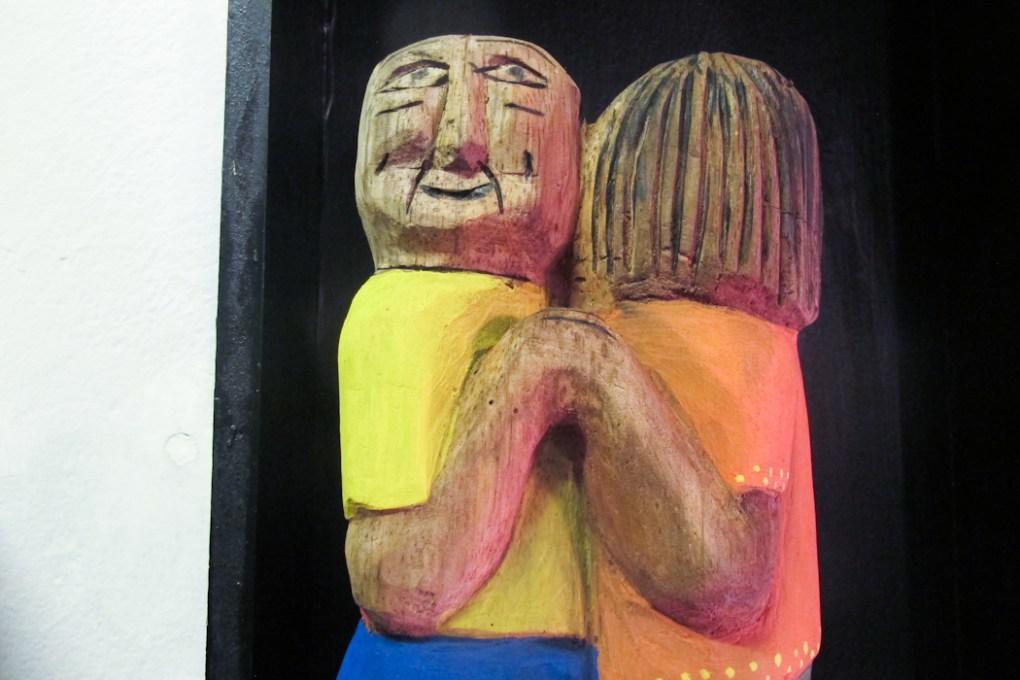 Muestra del tallador José Escobar en Guaraní Porã. Foto