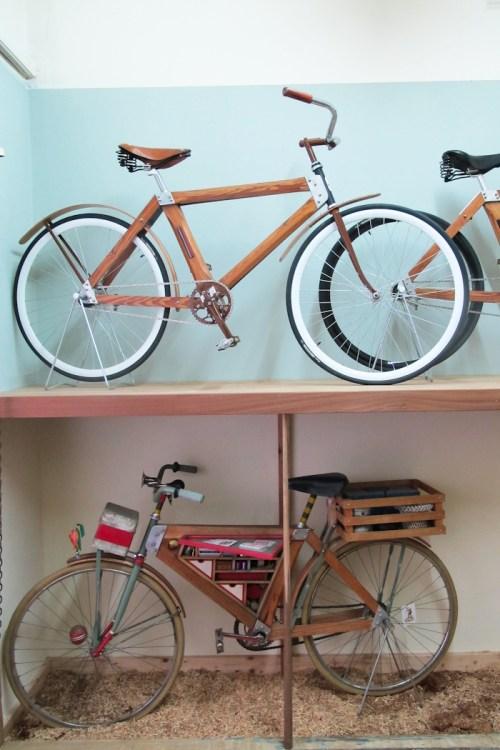 Bicicletas de madera Salvador. Foto