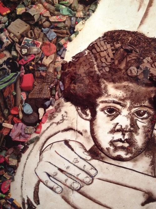 Detalle de la serie Cuadros de basura. Foto