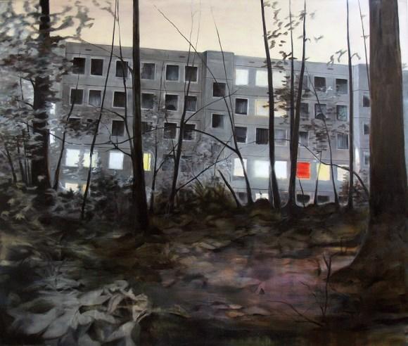 Am Jägerpark 55-57 IX / Öl auf Leinwand / 140 x 165 cm / 2012