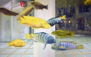 Aquarium II / Öl auf Leinwand / 90 x 145 cm / 2004