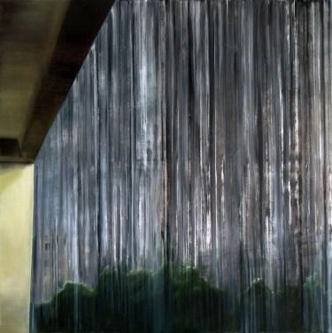 Balkon / Öl auf Leinwand / 120 x 120 cm / 2009