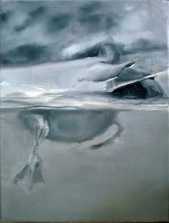Ente-16 / Öl auf Leinwand / 40 x 30 cm / 2002
