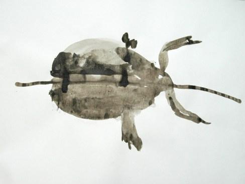 Ente-Tusche 1 / Tusche auf Papier / 40 x 30 cm / 2009