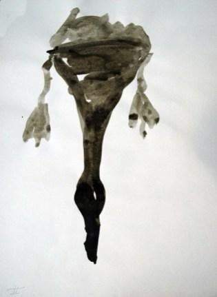 Ente-Tusche 6 / Tusche auf Papier / 30 x 40 cm / 2009