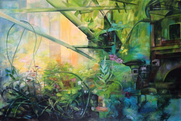 Gewächshaus / Öl auf Leinwand / 120 x 180 cm / 2020