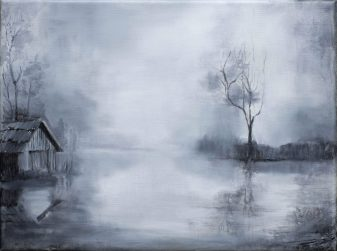 Nebelsee / Öl auf Leinwand / 30 x 40 cm / 2019