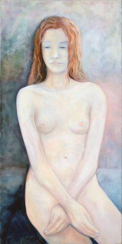 Pubertät / Öl auf Leinwand / 100 x 50 cm / 2020