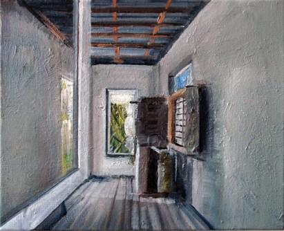 Stilles Haus I / Öl auf Leinwand / 30 x 24 cm / 2006
