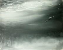 Tauchente / Öl auf Leinwand / 24 x 30 cm / 2001