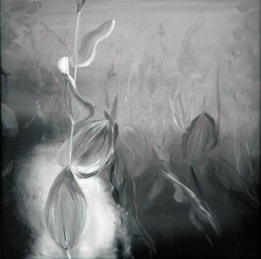 UW sw 2 / Öl auf Leinwand / 30 x 30 cm / 2001