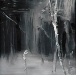 UW sw 3 / Öl auf Leinwand / 30 x 30 cm / 2001