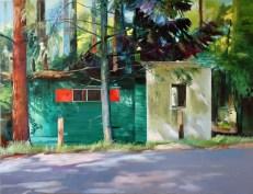 Verwaist I / Öl auf Leinwand / 150 x 210 cm / 2006