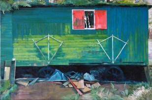 Verwaist II / Öl auf Leinwand / 100 x 150 cm / 2006