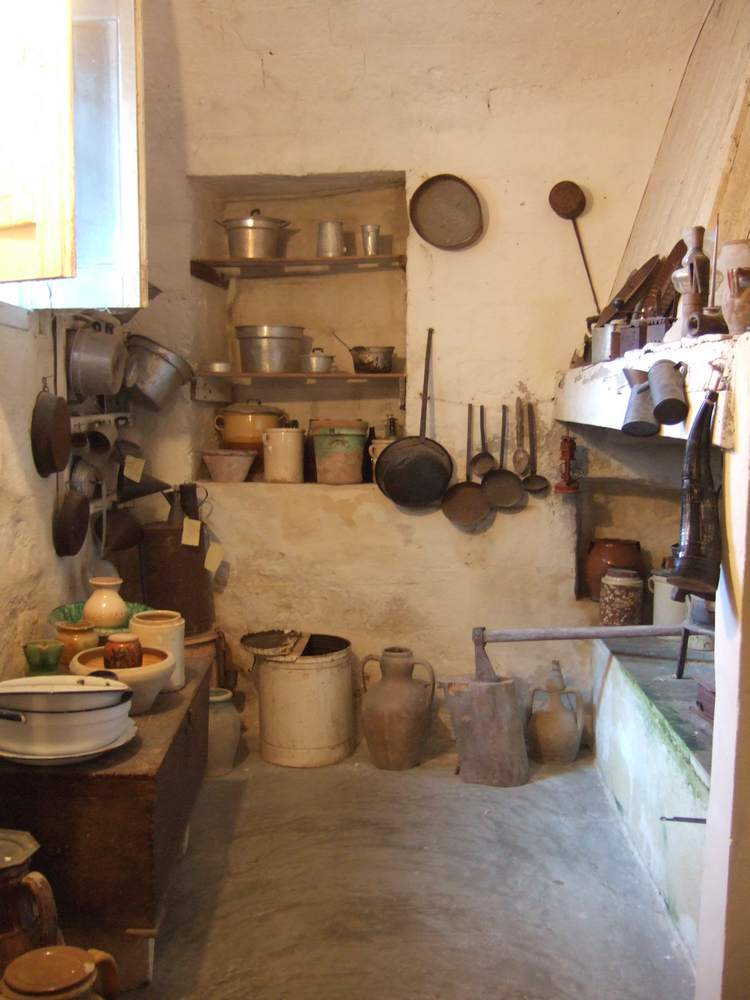 A traditional Sassi kitchen in Matera