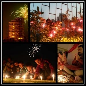 Diwali darkness into light