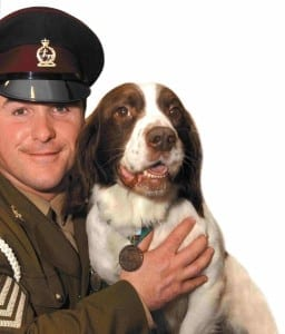 Buster with handler Sergeant Danny Morgan