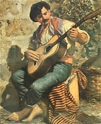 painting of a Maltese peasant
