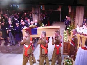 Richard lll carried into the Cathedral
