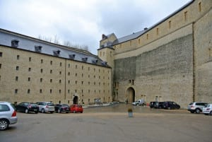 Substantial walls of Sedan Fortress now contain a high-class hotel