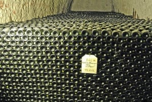 In Taittinger's caves, carved by the Romans from chalk, lie over 3m bottles of Champagne