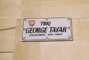 street in San Gwann named after the leading Jewish businessman