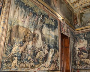 one of the two tapestries that had to be split in two because of size and space.