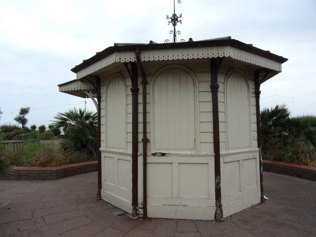 This hut was originally at the entrance to the pier. Now it sits forlornly outside the Pavilion tea rooms