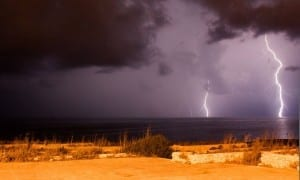 The power of electricity - electric storm over Malta.