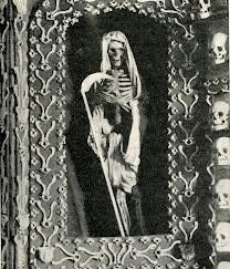 Reminder of the Grim Reaper in the Chapel.
