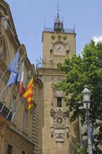 An old clock tower in Aix-en-Provence