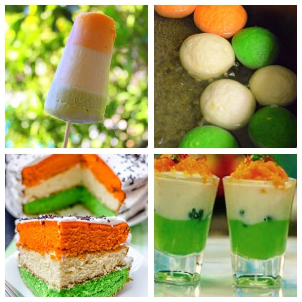 'Sweet Freedom'- Independence Day special food menu. (Clockwise) Ice-cream, Rasagulla, Falooda and Cake.