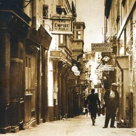Notorious Strait Street in Valletta.