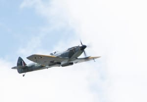 Spitfire fly by over Stoneleigh 25/7/2015