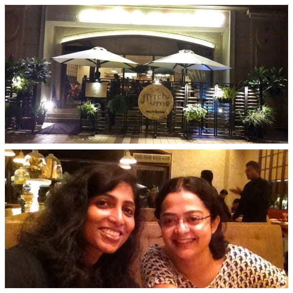Exploring the restaurant 'Mirchi & Mime' with my friend Sushma R.