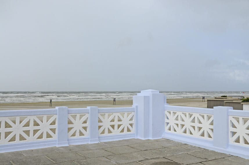 Art Deco balustrade on the seafront